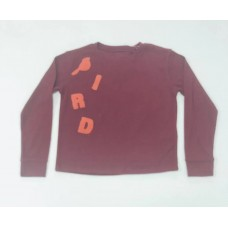 Bird Baskılı Bordo Sweat-K129